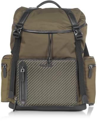 Ermenegildo Zegna Nylon And Pelletessuta Backpack
