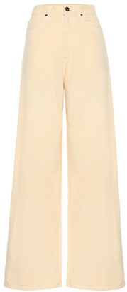 Gold Sign Overfit high-rise jeans