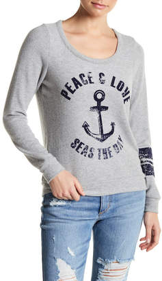 Chaser Love Knit Cutout Back Long Sleeve Top