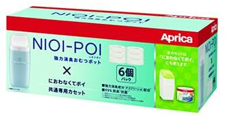 Aprica (アップリカ) - アップリカ 強力消臭紙おむつ処理ポット ニオイポイ NIOI-POI におわなくてポイ共通カセット 6個 2022672