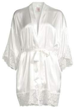 In Bloom The Bride Satin& Lace Wrapper Robe