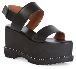 Givenchy Ursa Leather Platform Slingback Sandals
