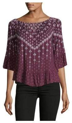 Style&Co. Style & Co. Petite Printed Flounce Top