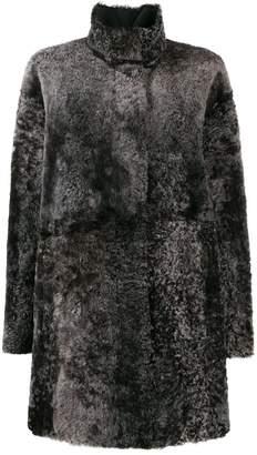 Drome high neck fur coat