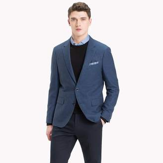 Tommy Hilfiger Micro Pattern Cotton Blend Blazer