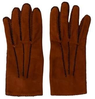 Hermes Suede Lambskin Gloves