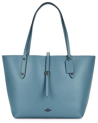 Coach Market Blue Leather Tote