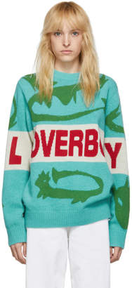 Charles Jeffrey Loverboy Green Darling Little Sillies Sweater