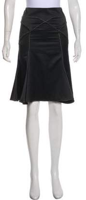 Just Cavalli Knee-Length Flounce Skirt