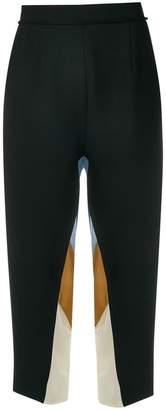 Maison Flaneur high waisted colour block trousers