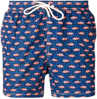 MC2 Saint Barth fish print drawstring shorts