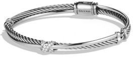 David Yurman X Crossover Bracelet with Diamonds $750 thestylecure.com