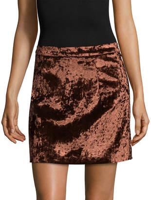 FEW MODA Few Moda Velour Mini Skirt