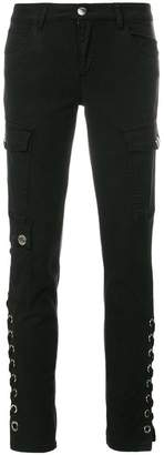 Versus lace-up skinny trousers