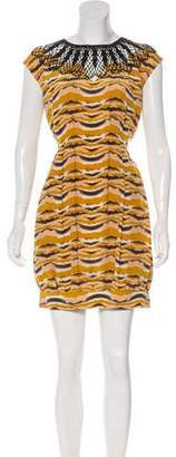 Miguelina Silk Printed Dress w/ Tags