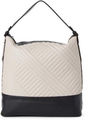Jessica Simpson Parchment & Black Ryanne Quilt Hobo Bag