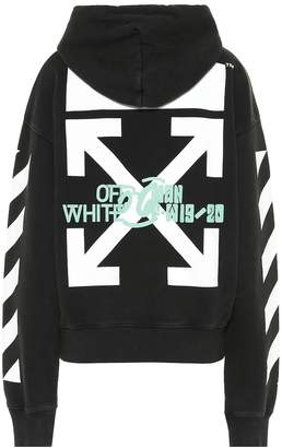 Off-White Off White Waterfall printed cotton hoodie