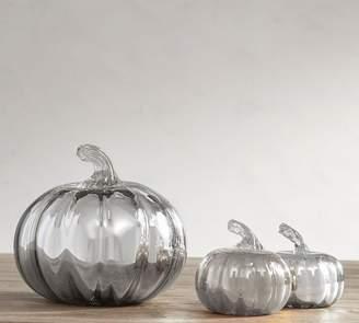 Pottery Barn Mercury Glass Pumpkins - Silver
