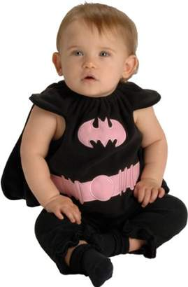 Rubie's Costume Co Baby Costume, DC Comics Deluxe Pink and Black Batgirl Bib and Cape, 0-9 Months
