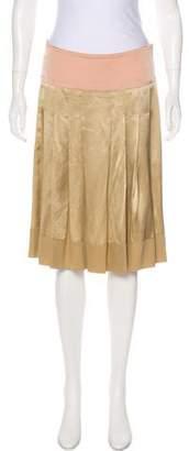 Chloé Silk Knee-Length Skirt