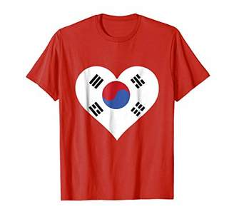 KOREAN FLAG HEART T-SHIRT South Korea Flag Tee