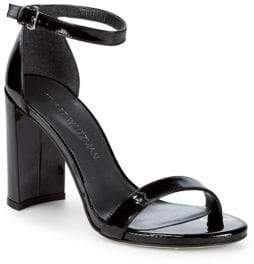 Stuart Weitzman Walkway Patent Leather Block Heels