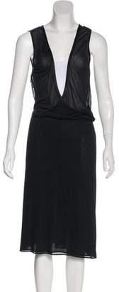 Versace Sheer Sleeveless Knee-Length Dress