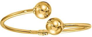 Italian Gold Bypass Bead Cuff 14K, 4.9g