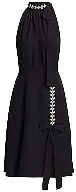 Prada Women's Embellished Tied Sleeveless Dress