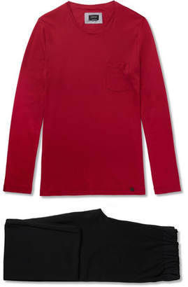 Hanro Cotton-Jersey Pyjama Set - Men - Red