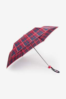 Next Womens Red Check Print Umbrella - Red
