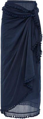 Matta Dupatta Tasseled Cotton And Silk-Blend Shawl