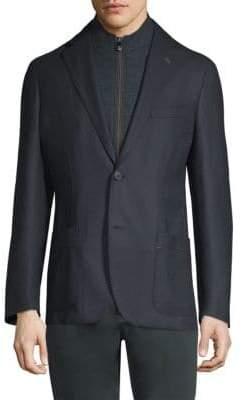 Corneliani Wool Hopsack Blazer