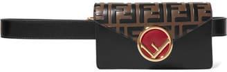Fendi Embossed Leather Belt Bag - Brown