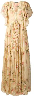 Alberta Ferretti floral print long dress