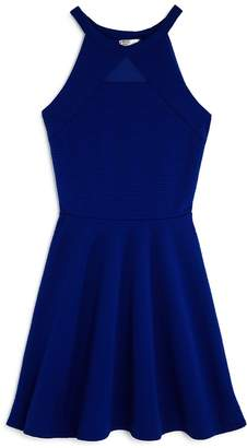 Sally Miller Girls' Textured Knit Mesh-Cutout Dress