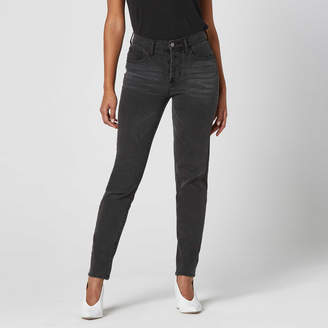 DSTLD High Waisted Mom Jeans in Faded Black