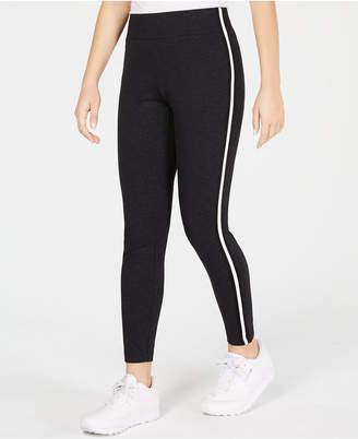 BCX Juniors' Side-Striped Printed Leggings