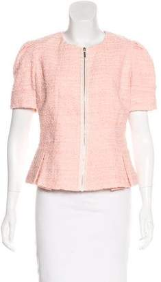 Blumarine Bouclé Short Sleeve Jacket
