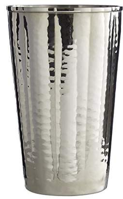 Camilla And Marc Premium Housewares Hammered Effect Tumbler, Nickel Finish, Silver, 13 x 8 x 8 cm