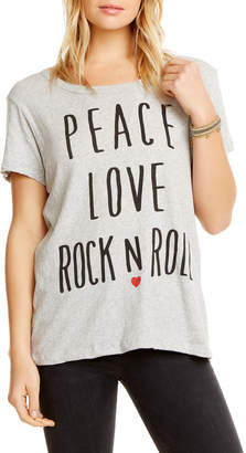 Chaser Peace Love Rock Cotton Tee