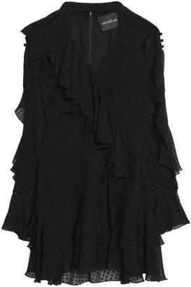 Nicholas Wrap-Effect Ruffled Fil Coupé Silk-Blend Chiffon Mini Dress