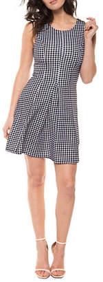 Dex Pleated Printed Dress
