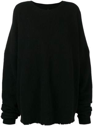 Unravel Project ribbed distressed jumper