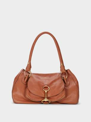 DKNY Smooth Leather Large Satchel
