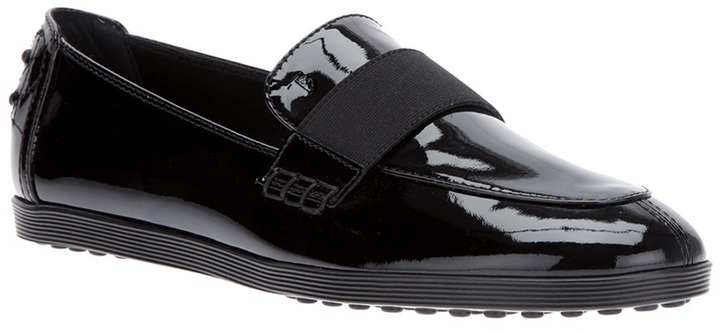 Tod's patent moccasin