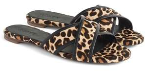 J.Crew J. CREW Cora Genuine Calf Hair Slide Sandal
