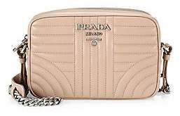 Prada Women's Small Diagramme Leather Camera Bag