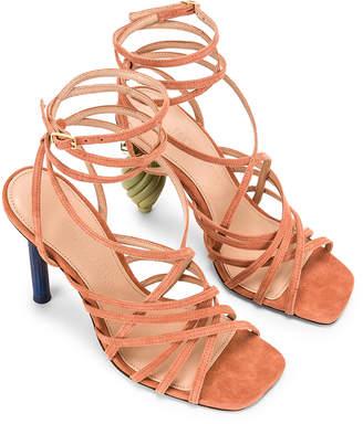 Jacquemus Pisa Sandals in Dark Nude Suede | FWRD