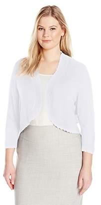 Jessica Howard Women's Plus Size Separate Bolero Shrug